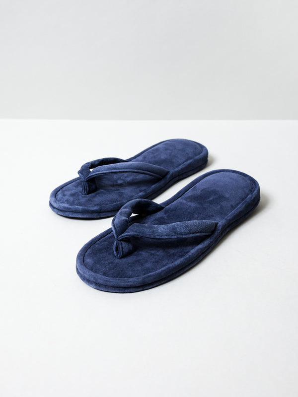 Leather Room Sandals, Navy