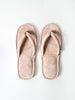 Leather Room Sandals, Pink-Beige