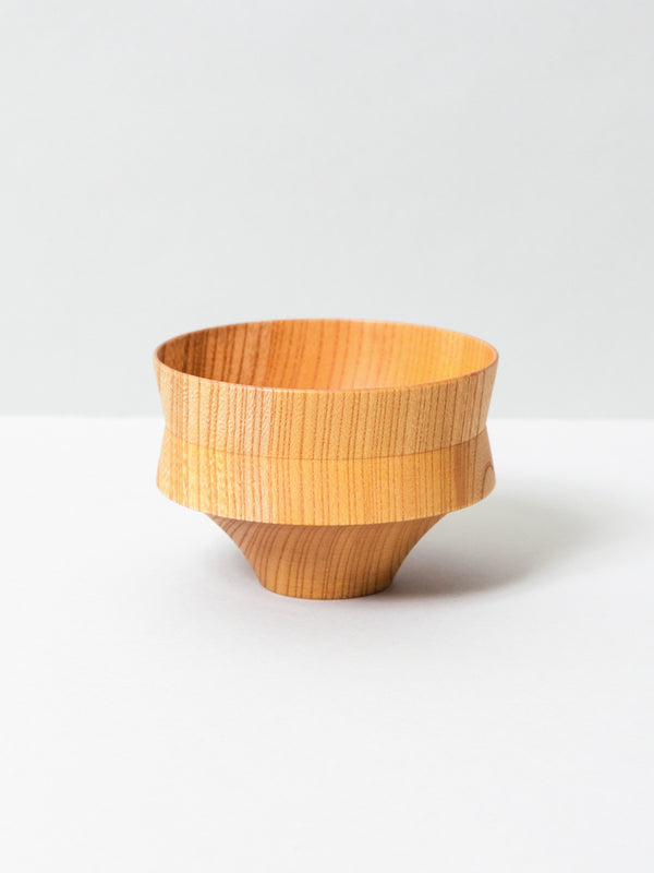 Tsumugi Wooden Bowl - Kine, Natural