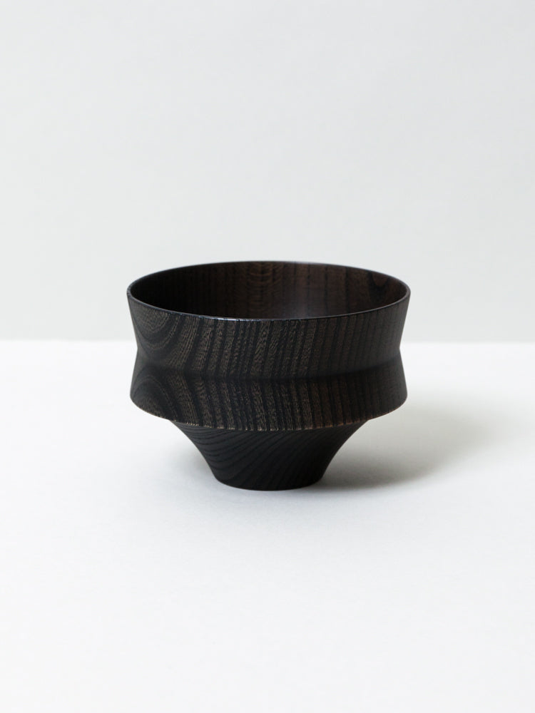 Tsumugi Wooden Bowl - Kine, Black