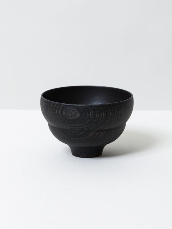 Tsumugi Wooden Bowl - Mokko, Black