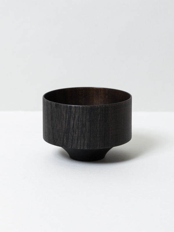 Tsumugi Wooden Bowl - Tsubo, Black