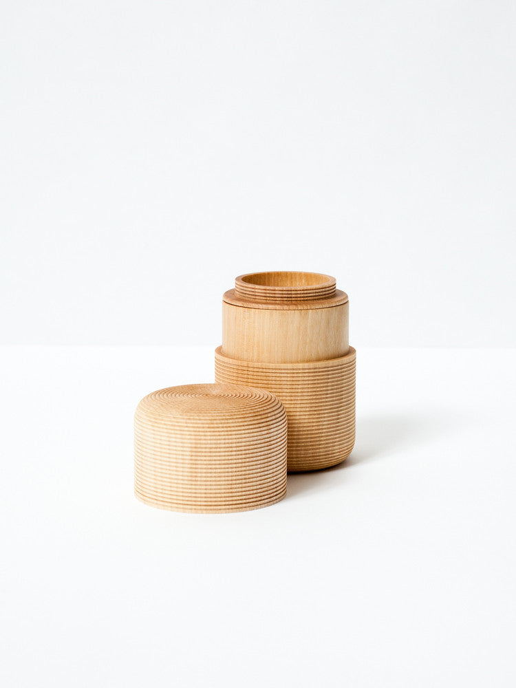 Karmi Tea Canister, Tawara - Natural