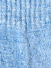 Linen Pile Socks, Light Blue
