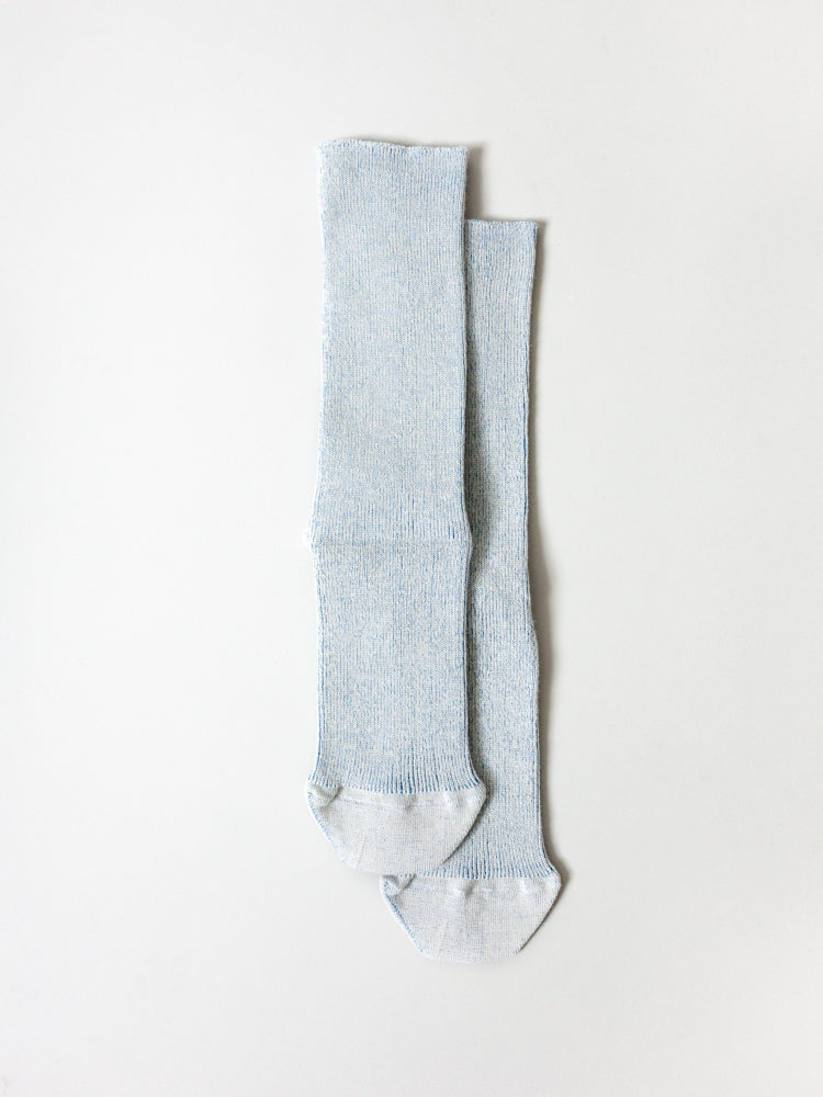 Organic Heathered Stretch Socks, Blue