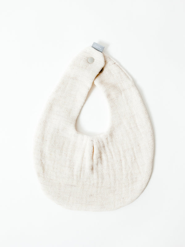 Claire Baby Bib, Almond Powder