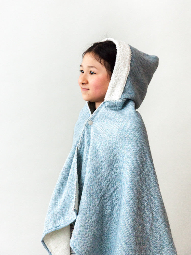 Claire Hooded Bath Towel, River Blue