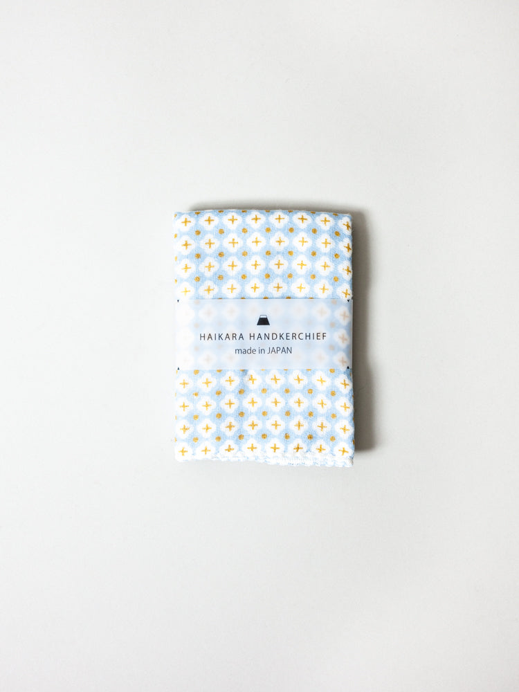 Haikara Little Handkerchief Pattern, Cross Blue