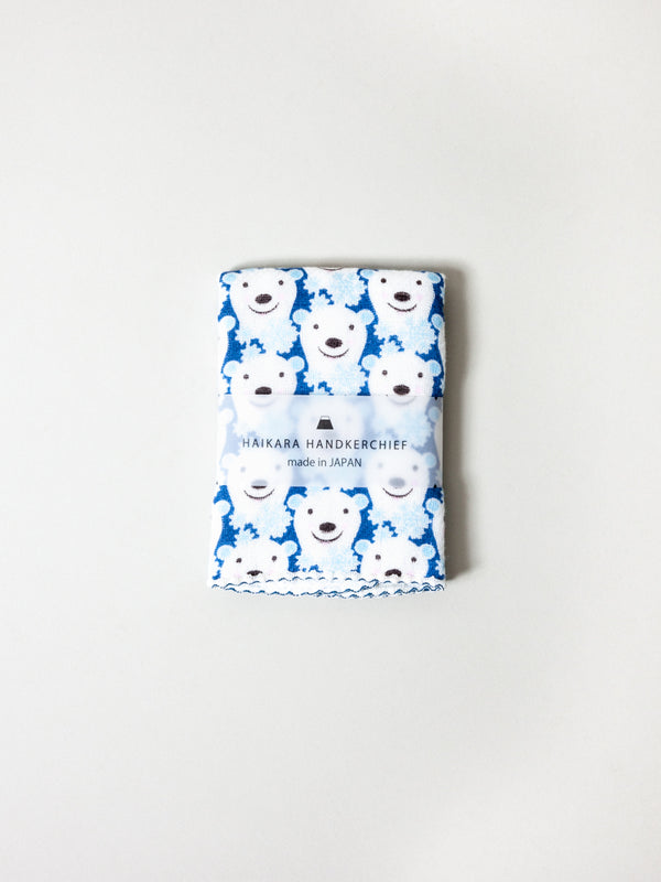 Haikara Little Handkerchief Polar Bear, Blue