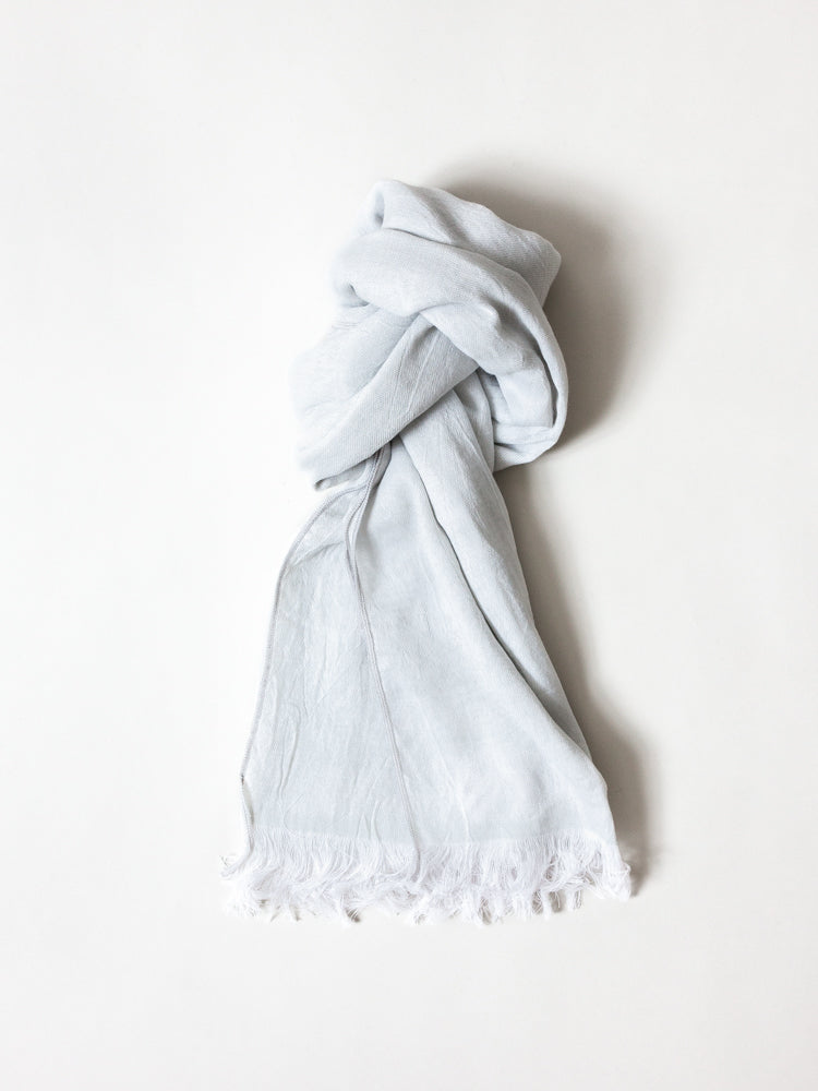 Haolu Cotton Wool Stole, Ash