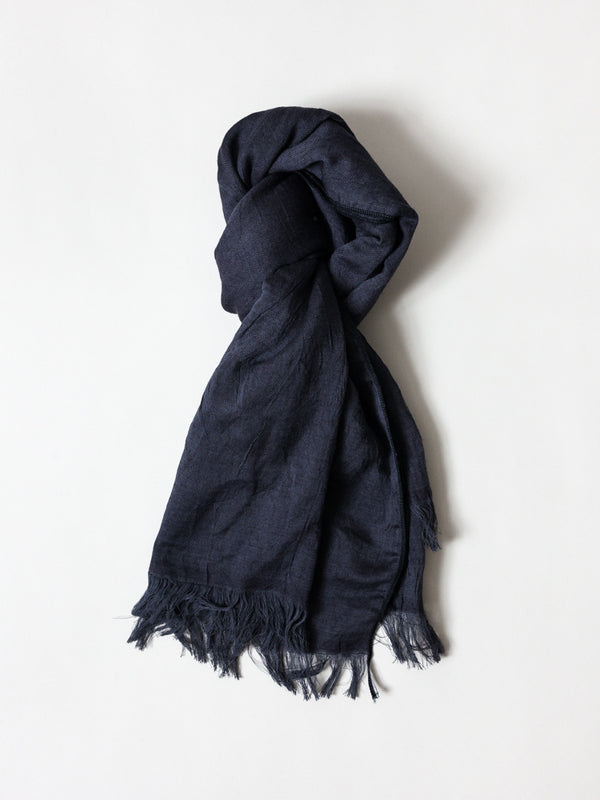 Haolu Cotton Wool Stole, Black