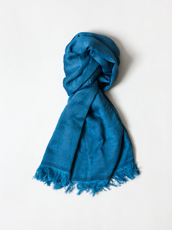 Haolu Cotton Wool Stole, Indigo