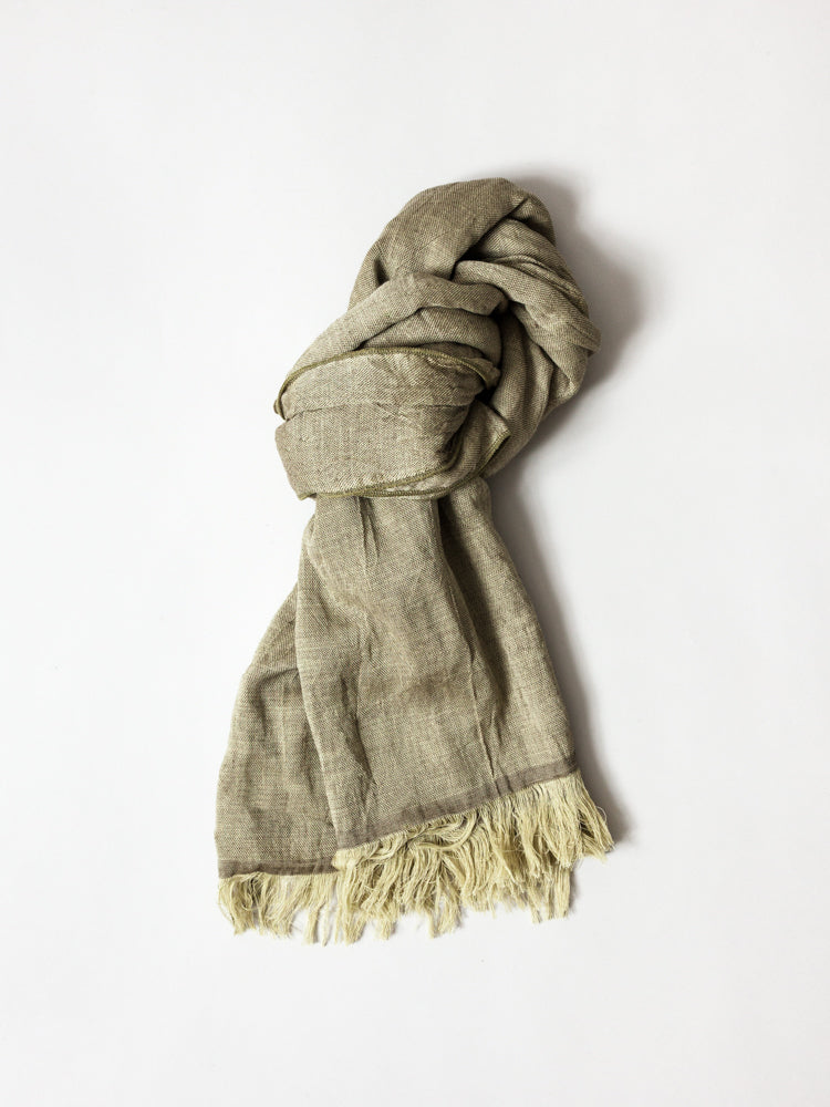Haolu Cotton Wool Stole, Moss
