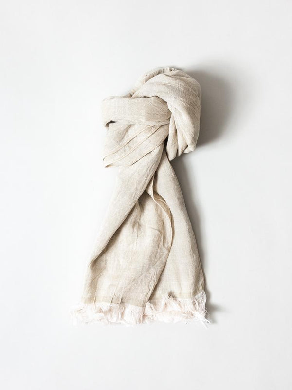 Haolu Cotton Wool Stole, Sand