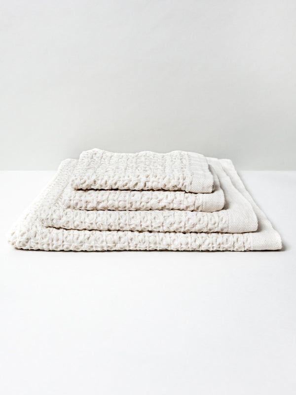 Lattice Linen Towel, Sand
