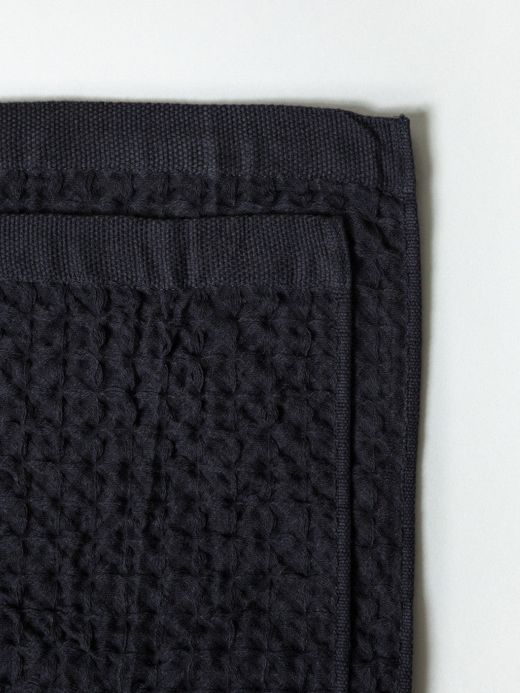 Lattice Linen Towel, Charcoal
