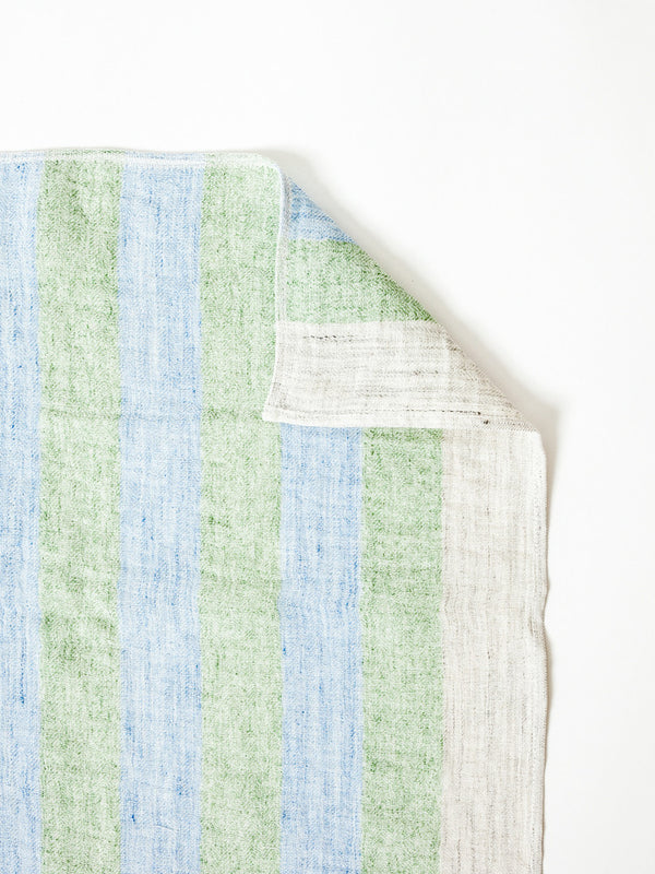Linen50 Kitchen Towel, Blue + Green