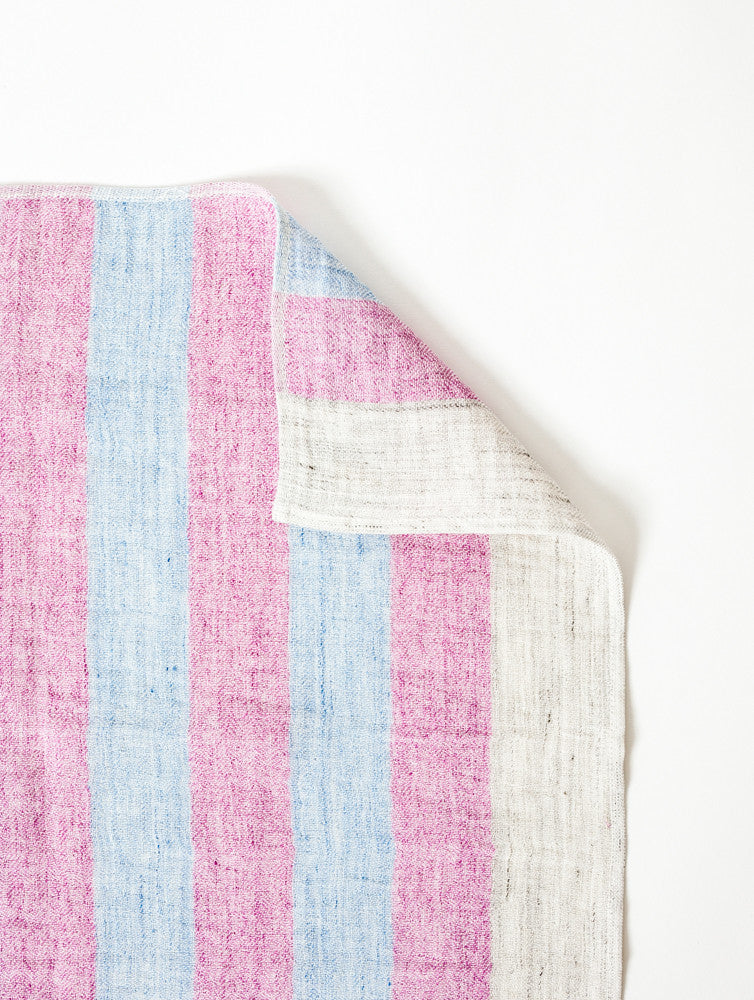 Linen50 Kitchen Towel, Pink + Blue
