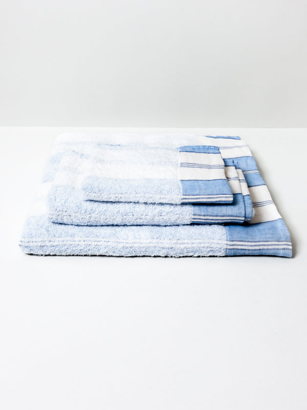 Lola Towel, Blue Stripe