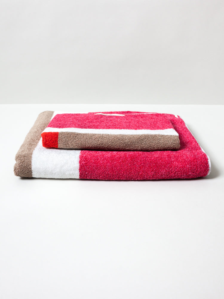 Piet Towel, Red