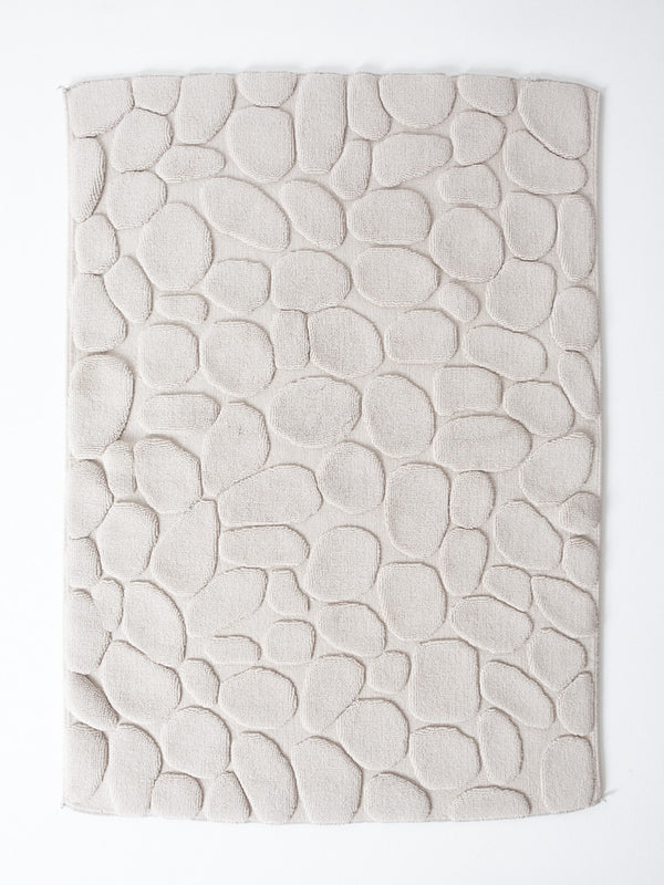 Ishikoro Pebble Stone Bath Mat, Light Grey