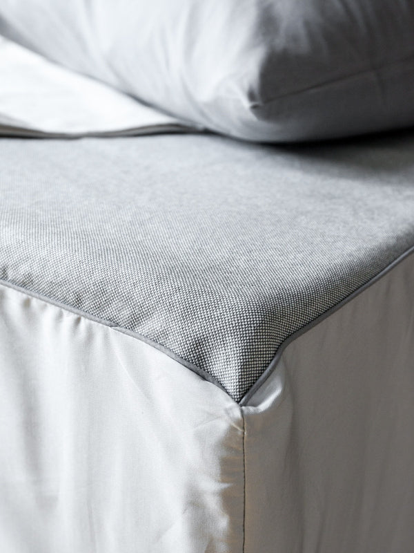 Sasawashi Fitted Sheet, Grey