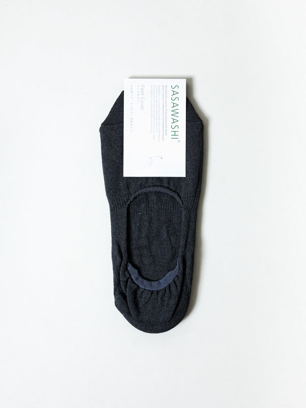 Sasawashi No-Show Socks, Charcoal