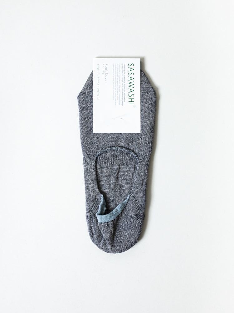 Sasawashi No-Show Socks, Grey