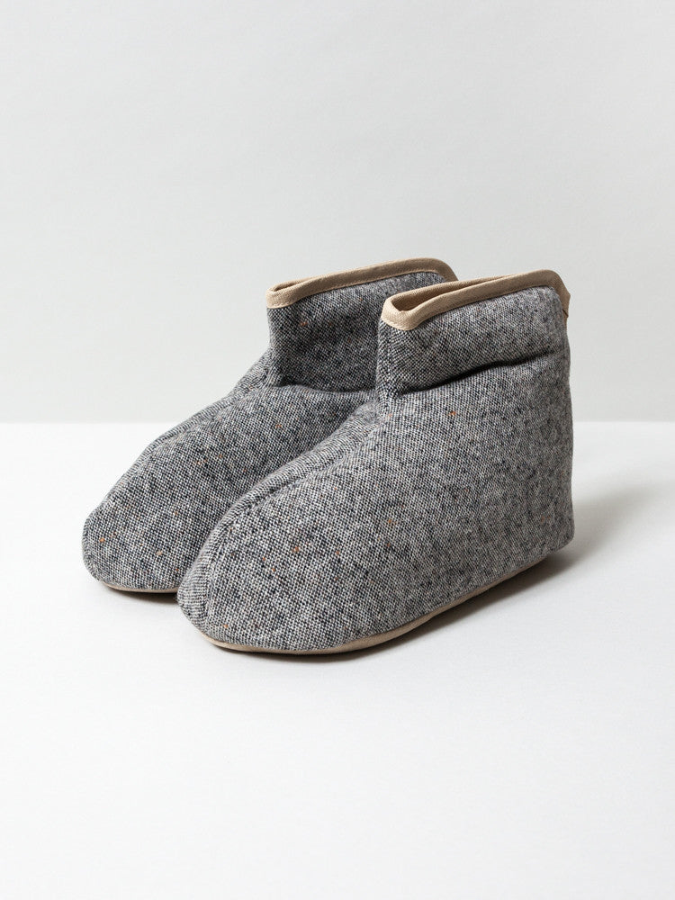 Sasawashi Wool Room Boots, Grey