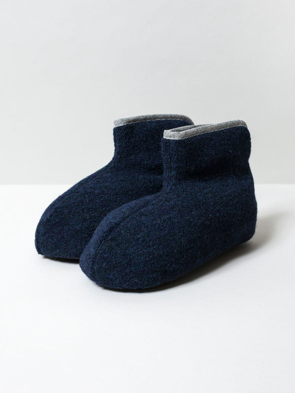 Sasawashi Wool Room Boots, Navy