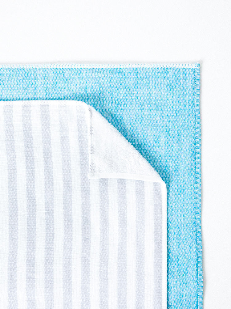 Square Towel, Blue/Green