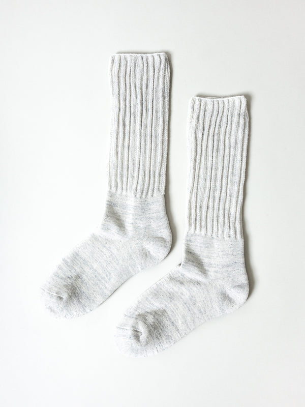 Mekke Socks, Heather Light Grey