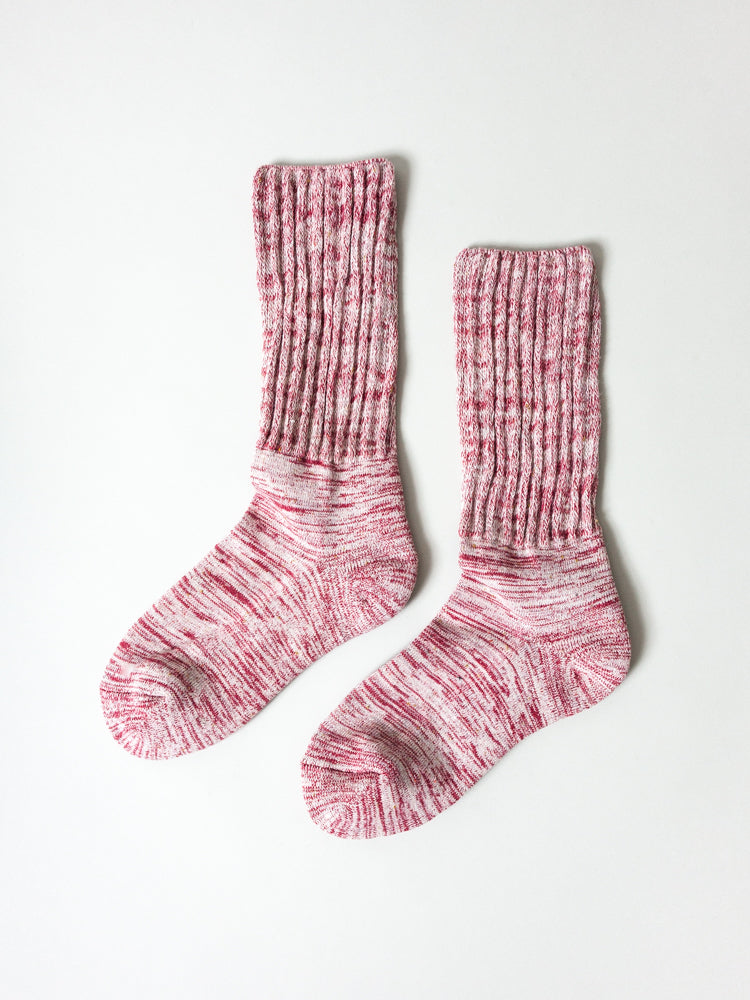 Mekke Socks, Heather Burgundy