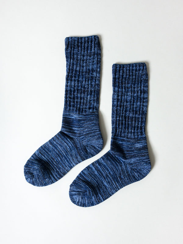 Mekke Socks, Heather Navy
