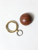 Timbre WAKKA Key Holder, Gold/Walnut