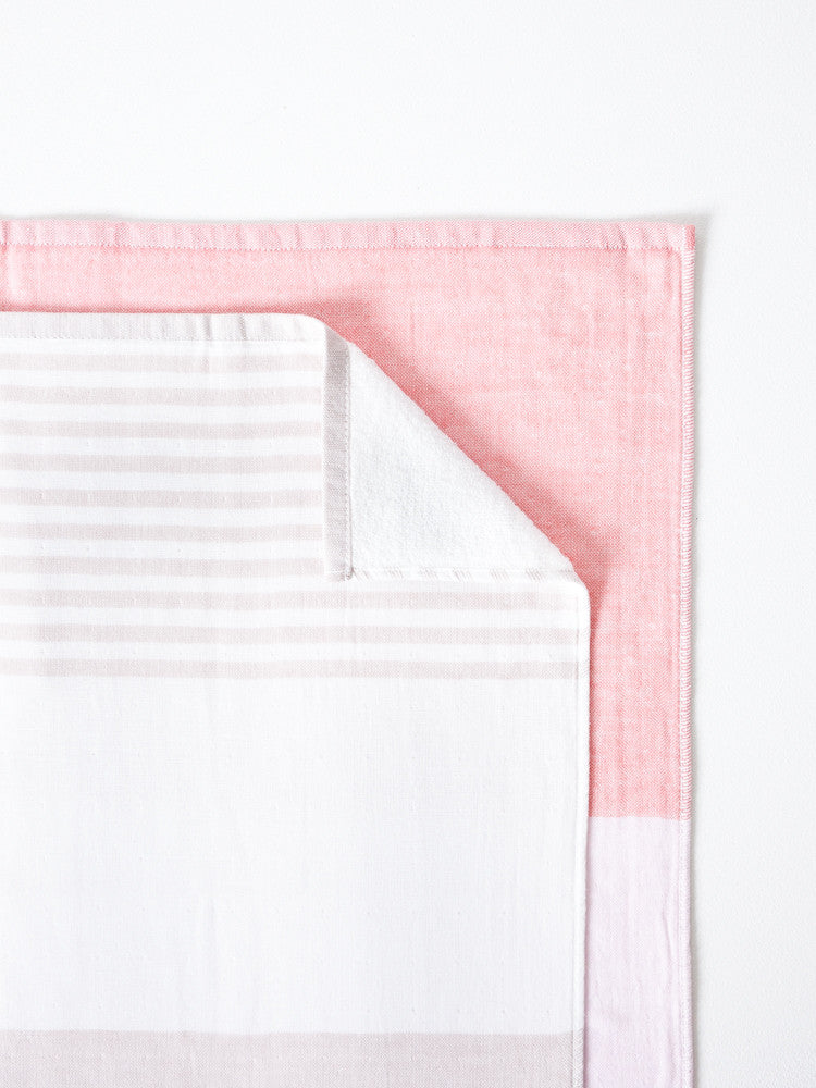 Tri-Color Chambray, Pink