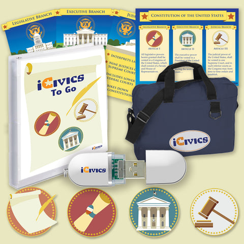 Bundle: iCivics Curriculum To-Go, USB Game Launcher, and Nylon Bag