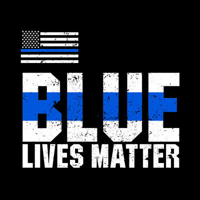 Blue Lives Matter - Black Tee