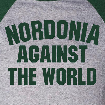 Nordonia Against The World - Gray/Green Raglan Tee