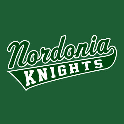 Nordonia Script & Tail - Green/White Performance Tee