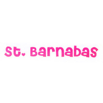 St. Barnabas Pink Glitter - Youth White Tee