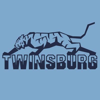 Twinsburg Tiger Outline - Light Blue Tee