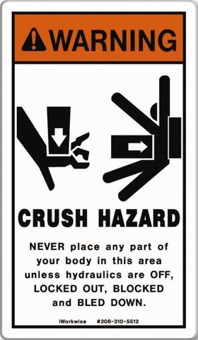 Crush Hazard Placard