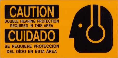 Double Hearing Protection Placard