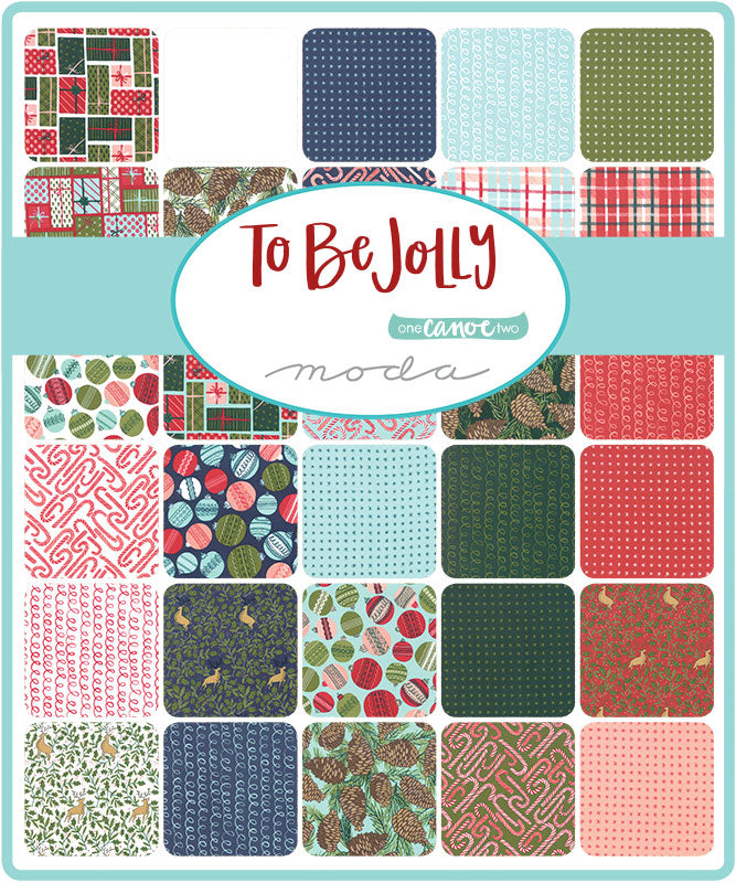 One Canoe Two TO BE JOLLY 32 Fat Quarter /& 1 panel Christmas bundle precut quilting fabric