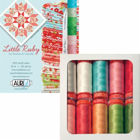 Little Ruby Small Aurifil Thread Box by Bonnie & Camille