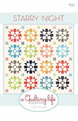 Starry Night Quilt Pattern by Sherri McConnell of A Quilting Life Designs