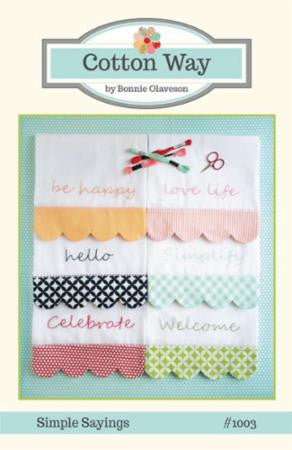 Simple Sayings Dish Towel Pattern by Cotton Way