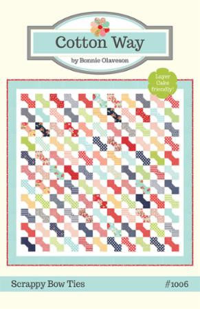Scrappy Bow Ties Quilt Pattern by Cotton Way