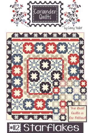 Starflakes Quilt Pattern by Coriander Quilts